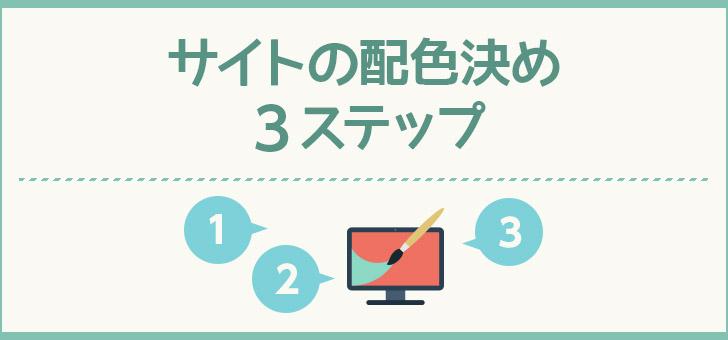 サイトの配色を決める3ステップ